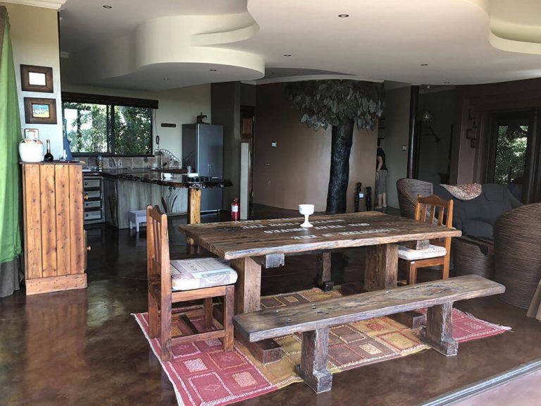 Dining Room Picnic Table and Kitchen ONEness Leopards Rock Bush Boutique