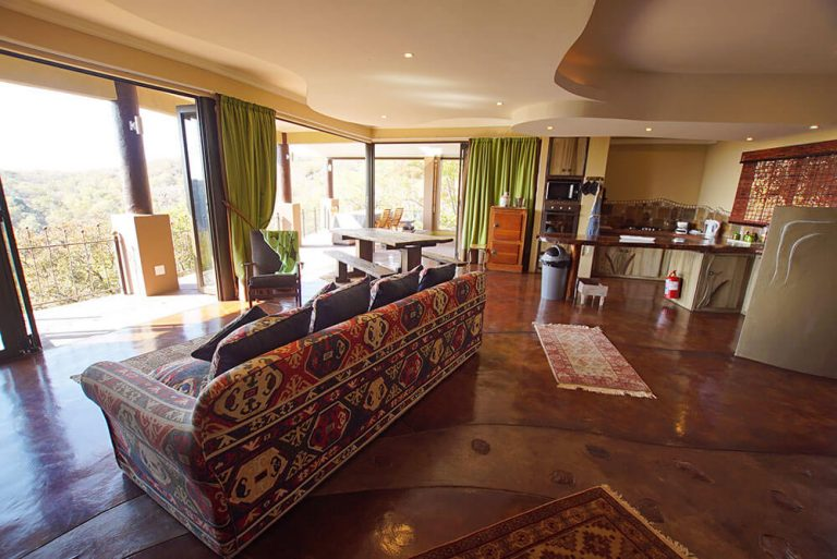 Living Room and Kitchen Oneness Leopards Rock Bush Boutique