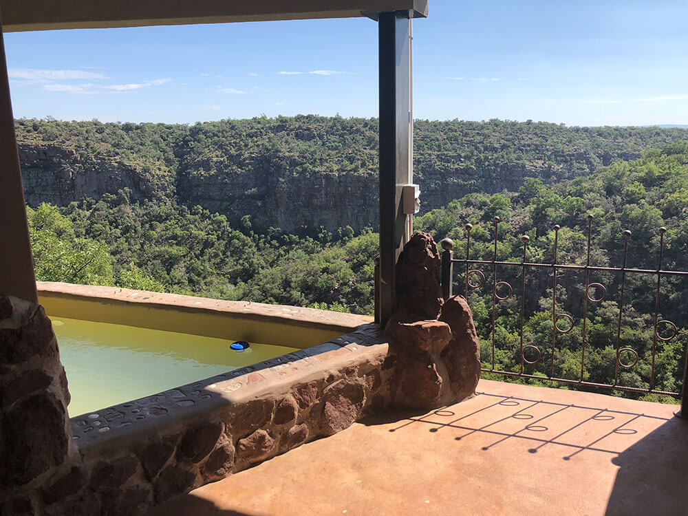 Swimming Pool with Balcony View OPENness Leopards Rock Bush Boutique