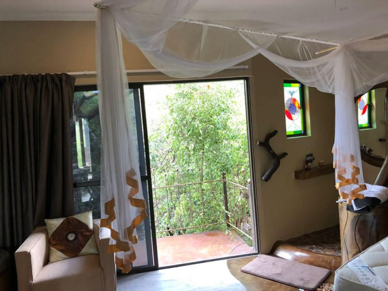 View Outside of Balcony From Bedroom ONEness Leopards Rock Bush Boutique